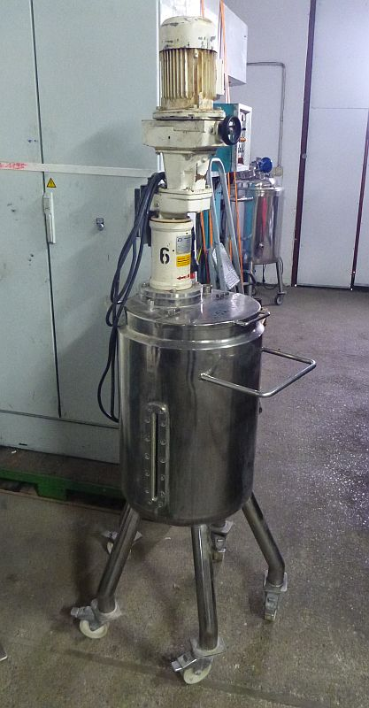 60 L Vertical Jacketed Mobile Stainless Steel Mixing Tank