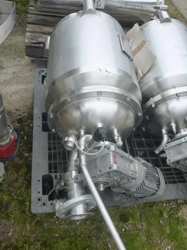 75 L Vertical Stainless Steel Process Vessel With Heating Jacket And Frame Agitator