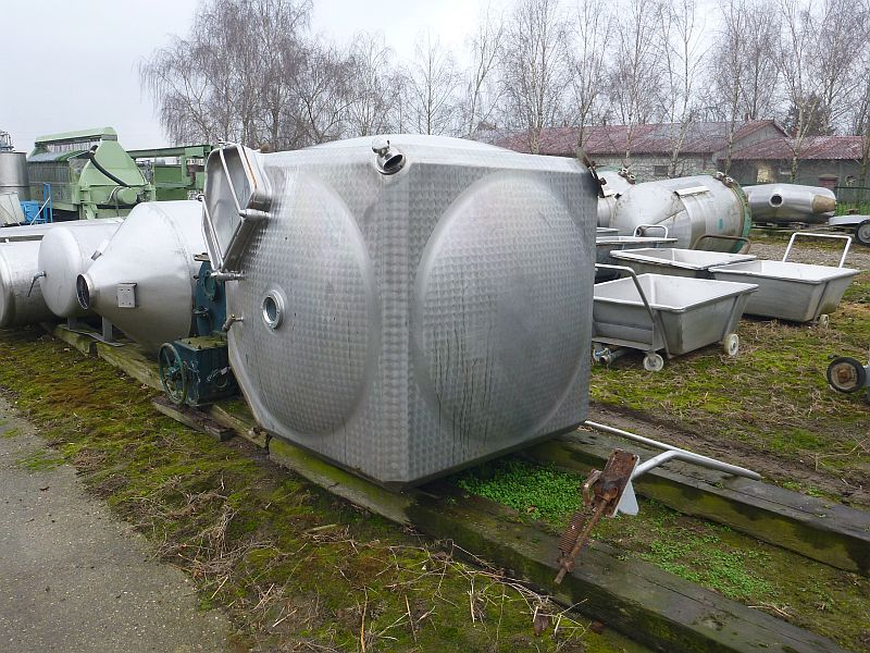 113 Cubic Foot Paasch Stainless Steel Tumbling Mixer Cube