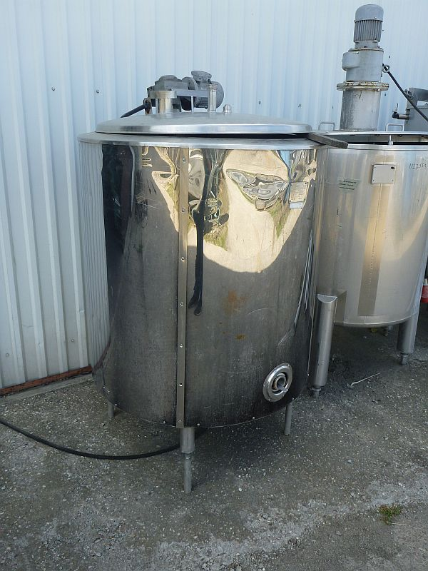 630 Liter Stainless Steel Jacketed Mixing Tank  920mm Dia x 950mm High