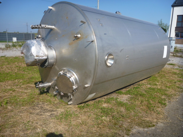 12000 l Vertical Stainless Steel Reactor By Goavec Engineering