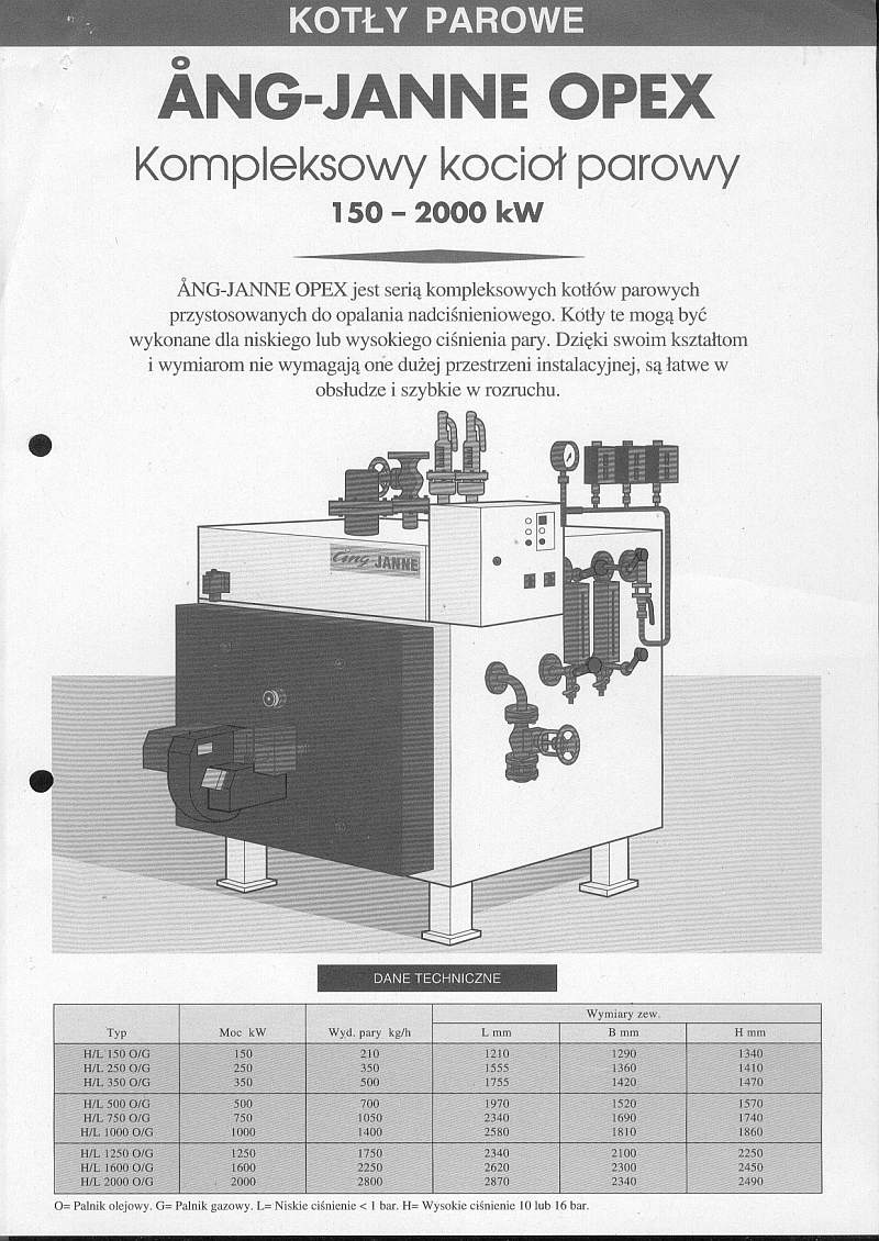 1,400 Kg/Hour 116 PSI Osby Parca Steam Boiler