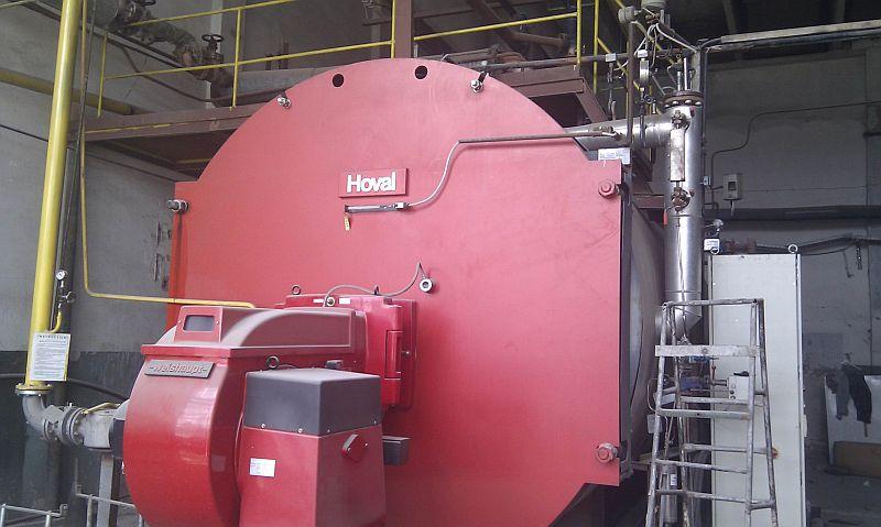 22,000#/Hour 261 PSI Hoval Steam Boiler