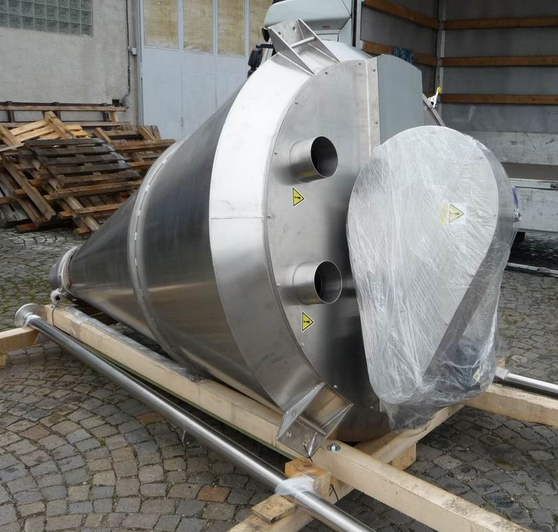 1,000 Litre PERRYmix Model HV 1000 Stainless Steel 316L Conical Mixer, New