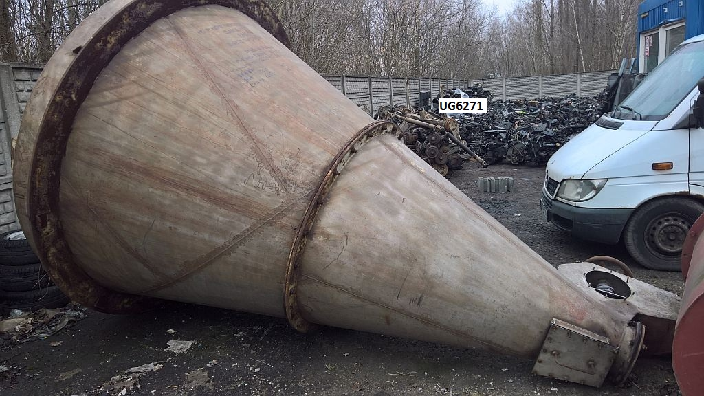 4,100 Liter Metalchem Torun MS-41 Nauta Conical Powder Mixer