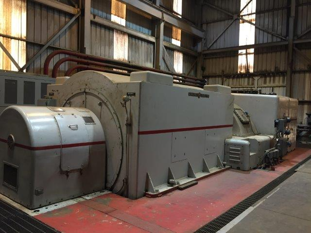 15000 kW 425 PSI General Electric Turbogenerator Condensing