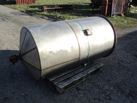 800 Litre Stainless Steel Vertical Storage Vessel, 910mm Dia x 1610mm Straight Side