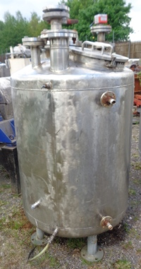 151 Litre Stainless Steel Vertical Storage Vessel, 450mm Dia x 950mm Straight Side
