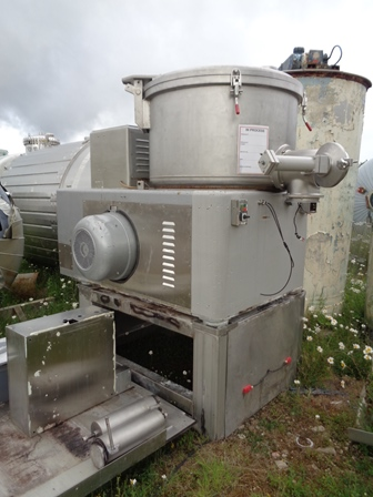 600 Litre Lodige Model MGT600G/1MZ Stainless Steel Mixer Granulator