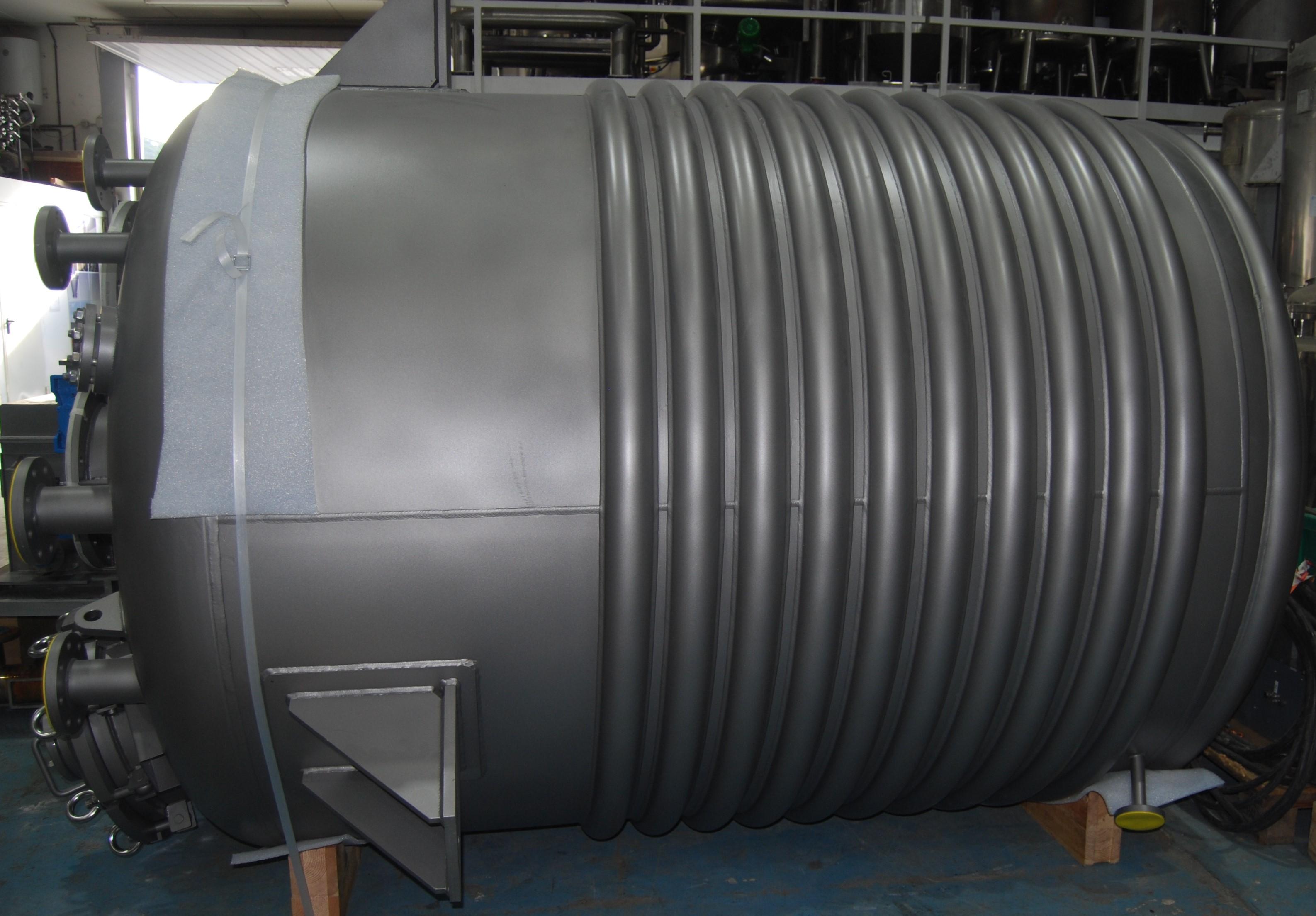 5,800 Litre, 6 Bar/Full Vacuum Internal, 10 Bar Jacket, Stainless Steel Vertical Reactor