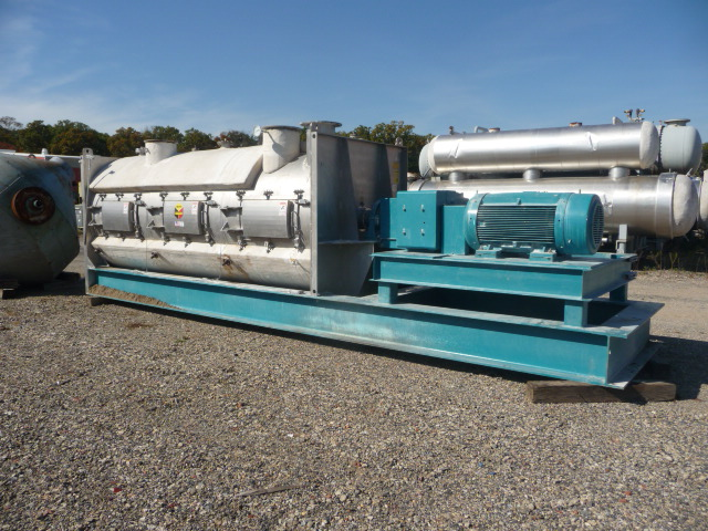 235 Cubic Foot Scott Jacketed Stainless Steel Paddle Blender