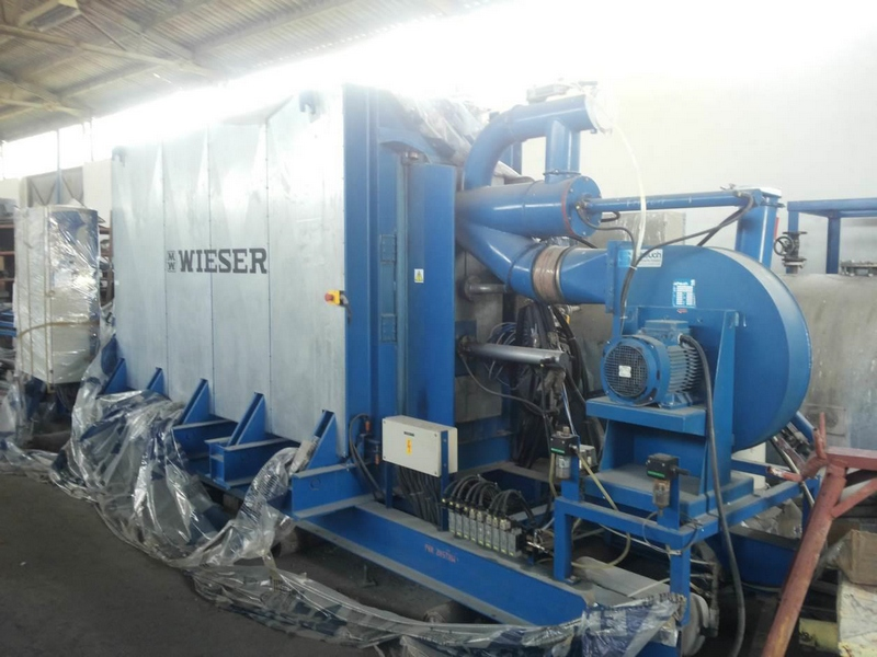 Used WIESER Styrofoam production line with the capacity 400 m3/day