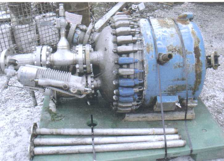 50 Gallon 300 FV Internal, 105/100 Jacket Pfaudler Reactor