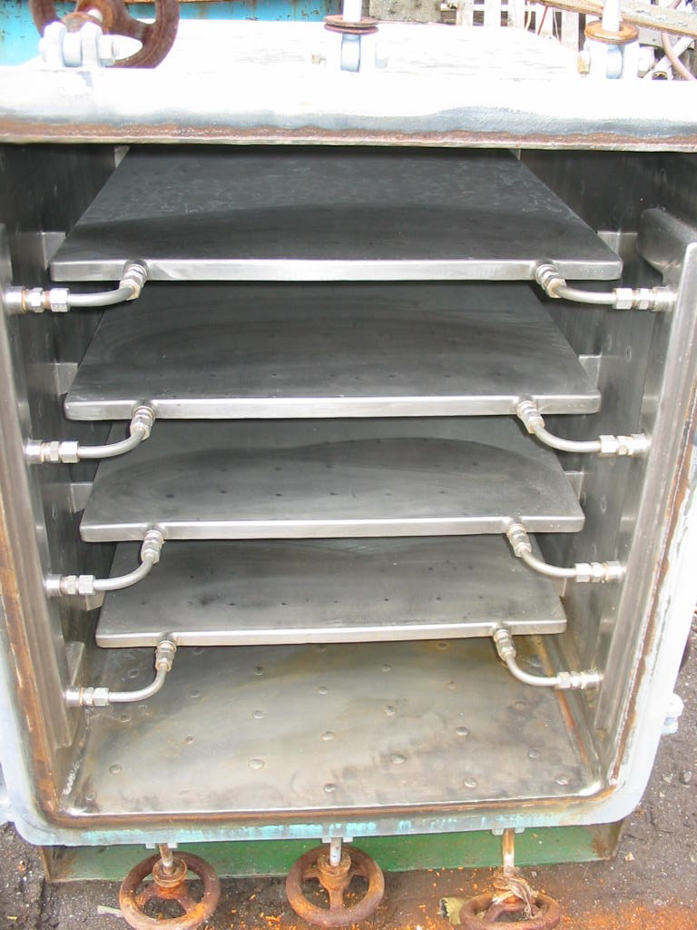 24 Sq. Foot, 4 Shelves Stokes 316 Stainless Steel Vacuum Shelf Dryer