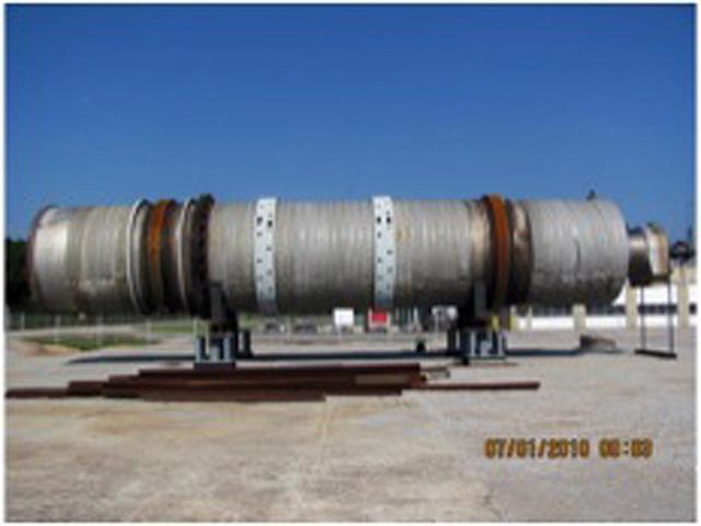 12' X 65' Davenport 316 Stainless Steel Rotary Steam Tube Dryer