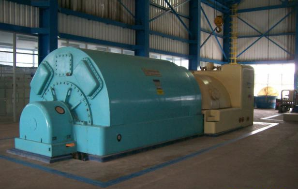 25000 kW 850 PSI Westinghouse Steam Turbine Generator