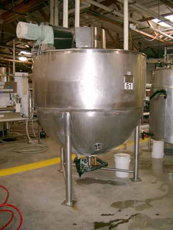 750 Gallon 40 PSI Jacket Stainless Steel Double Action Kettle