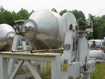 30 Cubic Foot Gemco Stainless Steel Double Cone Blender