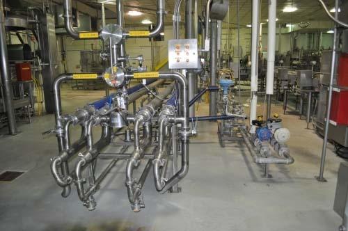 89 Sq. Ft. APV Stainless Steel Spiral Triple-Tube Heat Exchanger