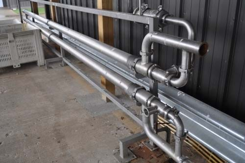 52 Sq. Ft. Advanced Process Solutions Stainless Steel Triple Tube Heat Exchanger
