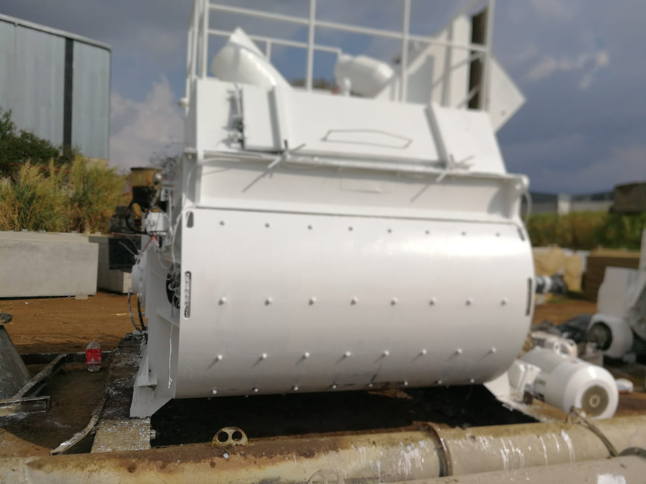 200 Cubic Foot Carbon Steel Twin Shaft Trough Mixer