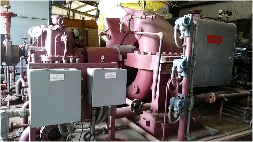 Used 2500KW 250 PSI  Condensing  Steam Turbine Generator