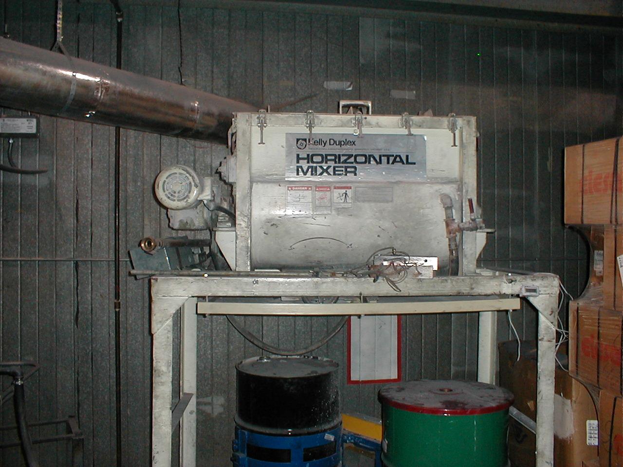 9 Cubic Foot Kelly Duplex Carbon Steel Horizontal Paddle Mixer