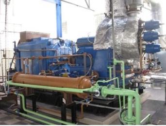 2000 kW 24/2.5 Bar Atlas Dual Back Pressure Turbine
