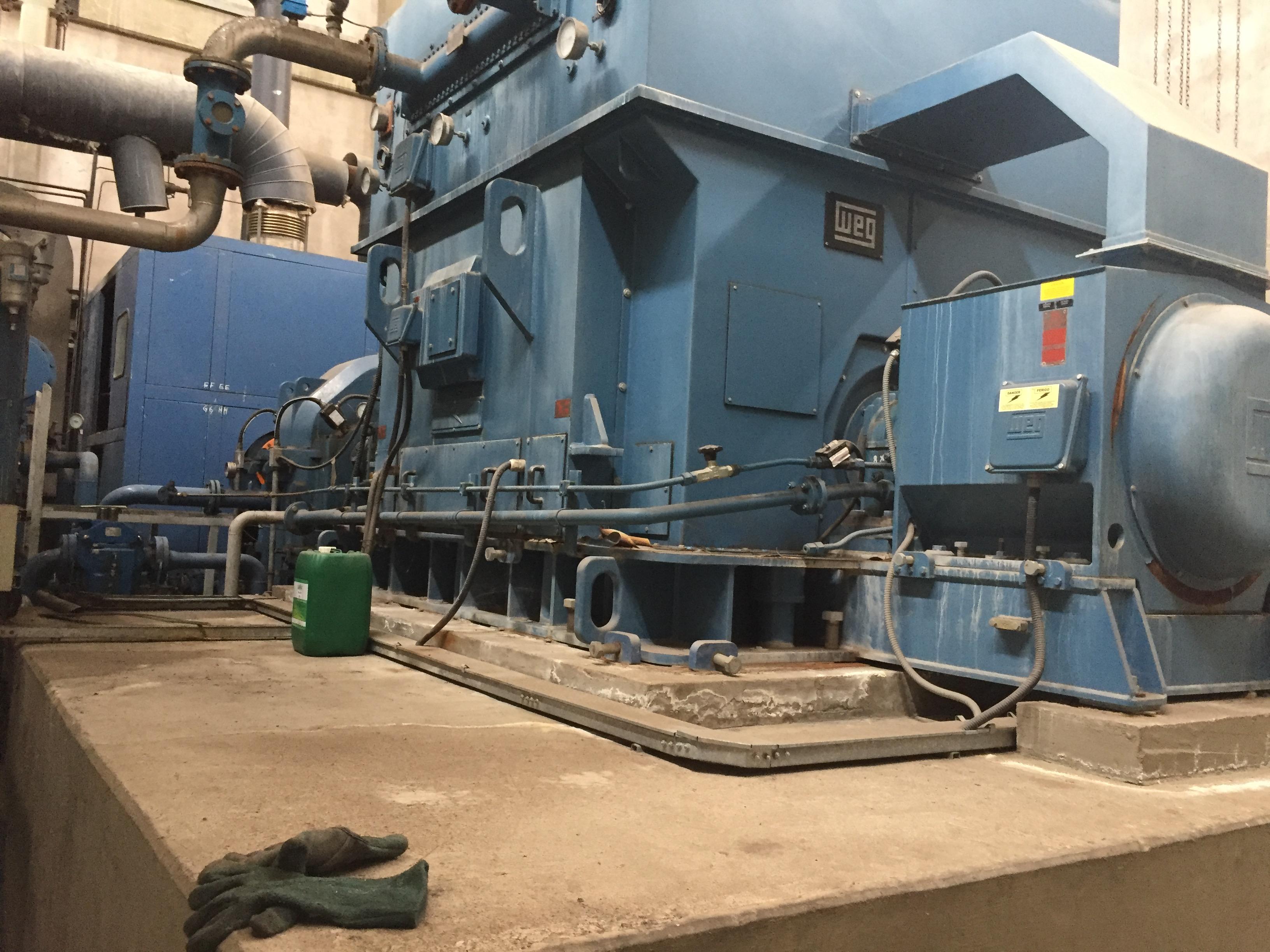 10,000 KW 870 PSI WEG Back Pressure Steam Turbine Generator
